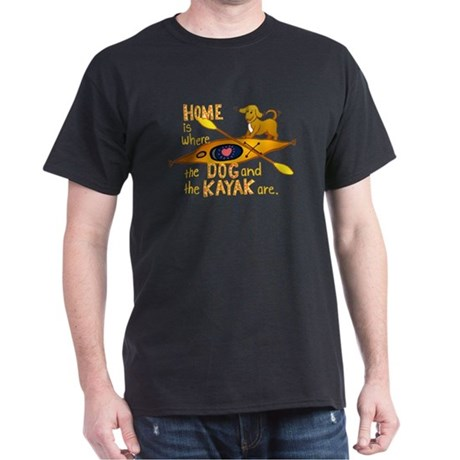 Dog and Kayak Dark T-Shirt
