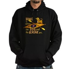 Dog and Kayak Hoodie