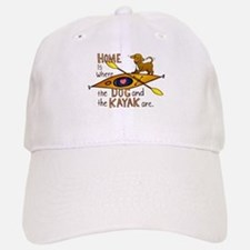 Dog and Kayak Baseball Baseball Cap