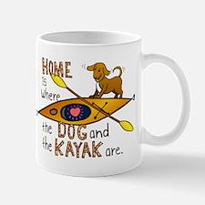 Dog and Kayak Mug