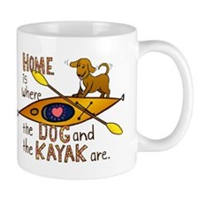 Dog and Kayak Mug