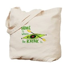 Home is Where the Kayak Is Tote Bag