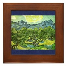 Van Gogh Olive Trees Framed Tile