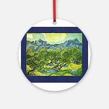 Van Gogh Olive Trees Ornament (Round)