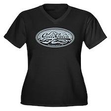 Galt's Gulch Women's Plus Size V-Neck Dark T-Shirt