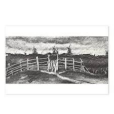 Van Gogh Windmills Postcards (Package of 8)