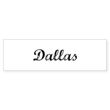 Vintage Dallas Bumper Sticker