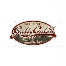 Galt's Gulch Aluminum License Plate