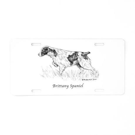 Brittany Spaniel Aluminum License Plate