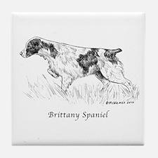 Brittany Spaniel Tile Coaster