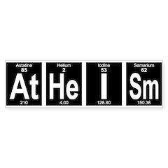 Periodic Table Atheism Bumper Bumper Sticker