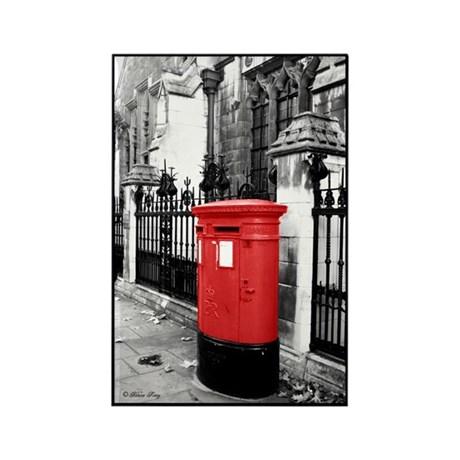 Red Letterbox Rectangle Magnet