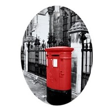 Red Letterbox Ornament (Oval)