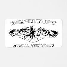 Submarine Warfare Spec Ops Aluminum License Plate