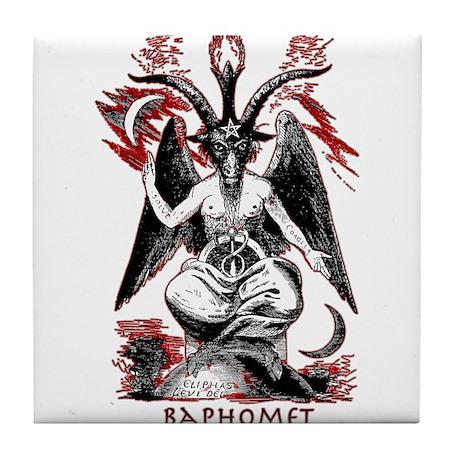 Baphomet Tile Coaster
