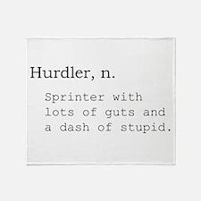 Hurdler Throw Blanket
