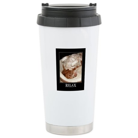 Brittany Spaniel Stainless Steel Travel Mug
