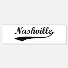 Vintage Nashville Bumper Bumper Bumper Sticker