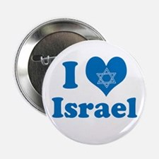 """I Love Israel 2.25"""" Button"""