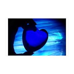 Blue Heart 38.5 x 24.5 Wall Peel