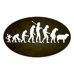 Modern Evolution Sticker (Oval 50 pk)