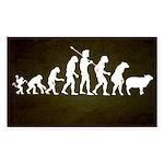 Modern Evolution Sticker (Rectangle)