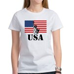 Statue of Liberty, US Flag Women's T-Shirt