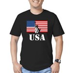 Statue of Liberty, US Flag Men's Fitted T-Shirt (d