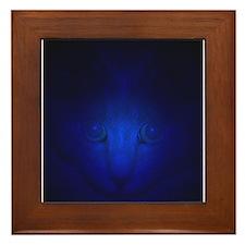 Blue Malaki Framed Tile