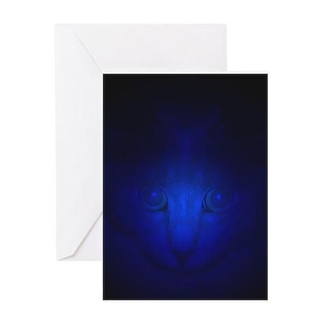 Blue Malaki Greeting Card