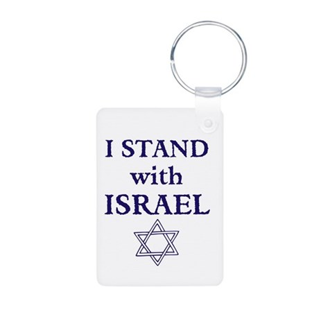I Stand with Israel Aluminum Photo Keychain