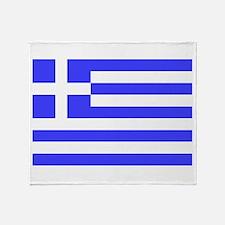 Greek Flag Throw Blanket