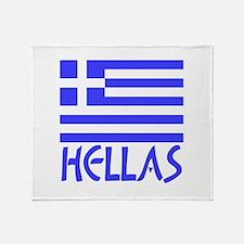Greek Flag & Hellas Throw Blanket