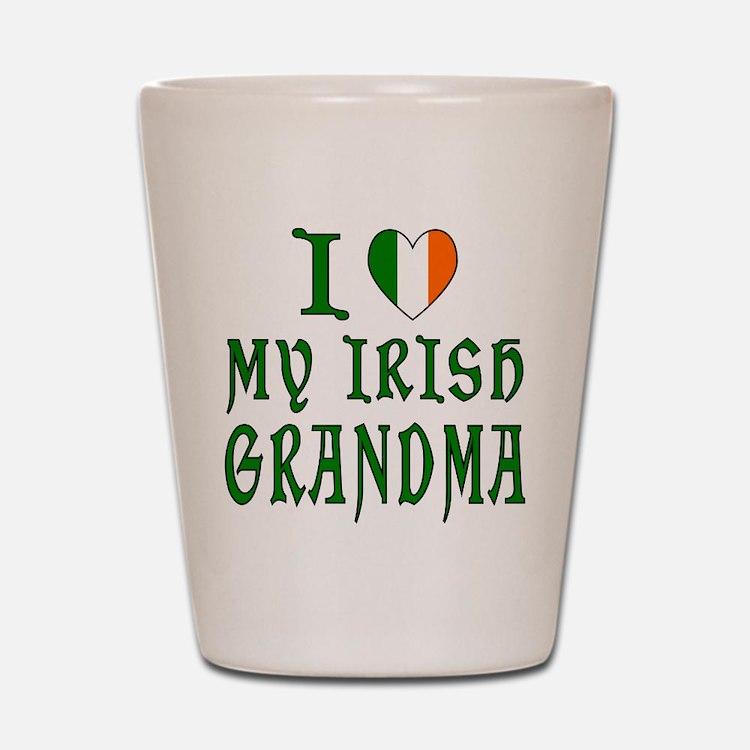 I Love My Irish Grandma Shot Glass