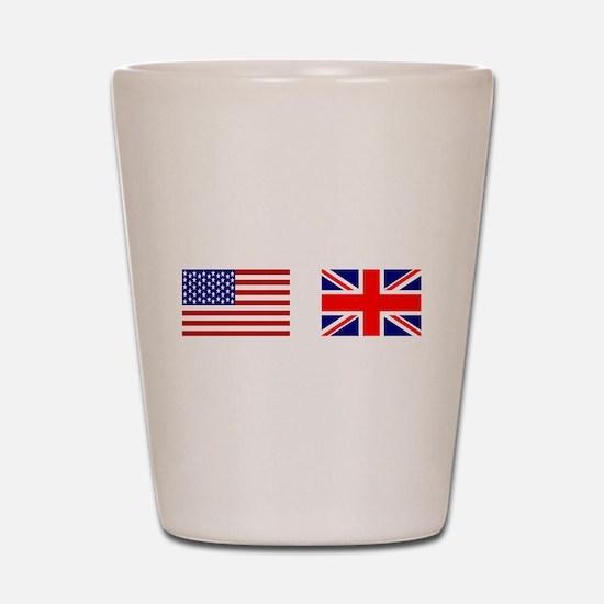 USA & Union Jack Shot Glass