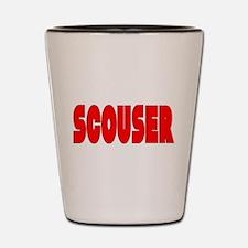 Scouser in Red w/ Black Shot Glass