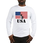 Statue of Liberty, US Flag Long Sleeve T-Shirt