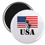 Statue of Liberty, US Flag Magnet