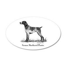 German Shorthaired Pointer 22x14 Oval Wall Peel