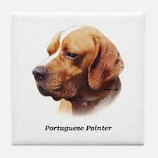 Portuguese Pointer Tile Coaster