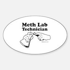 Meth Lab Technician - Oval Decal