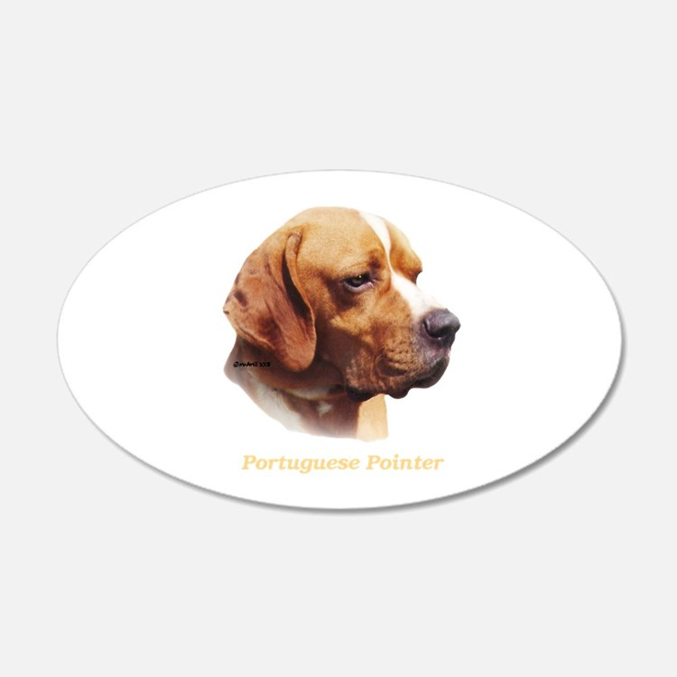 Portuguese Pointer 22x14 Oval Wall Peel