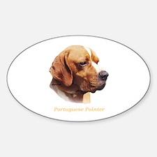 Portuguese Pointer Sticker (Oval)