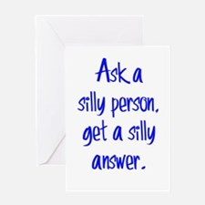Silly Person Greeting Card