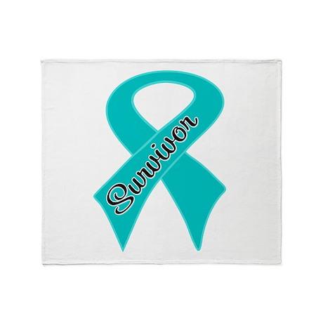 Ovarian Cancer Survivor Throw Blanket