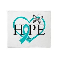 Ovarian Cancer Hope Throw Blanket