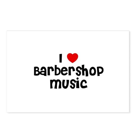 I * Barbershop Music Postcards (Package of 8)