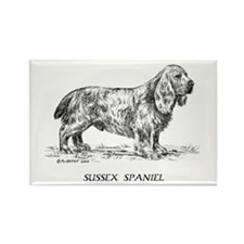 Sussex Spaniel Rectangle Magnet
