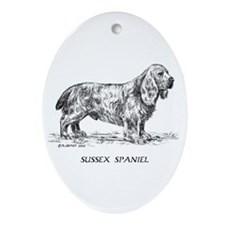 Sussex Spaniel Oval Ornament