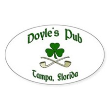 """Doyle's Pub/Crossed Pipes"" Oval Decal"
